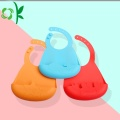 Custom Wonderful Color Waterproof Soft Silicone Baby Bibs
