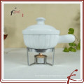 Calentador de mantequilla de porcelana de cerámica
