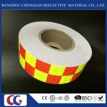 Venta al por mayor Cinta de material reflectante del PVC del diseño de la rejilla de dos colores