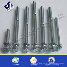 Zinc finished hex flange bolt Din6921 hex flange bolt M12 flange bolt