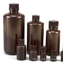 Botella de reactivo de plástico de boca estrecha de varios tamaños de calidad