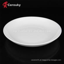 Placa de sopa branca de cerâmica por atacado da fábrica