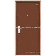 Acero de diseño simple o puerta de madera