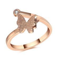 Senhora moda anel de campainha de jóias de aço inoxidável (hdx1040)