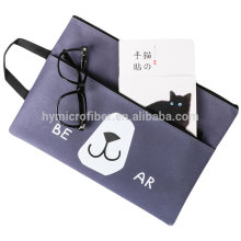 Cute printed logo custom tote canvas message bag