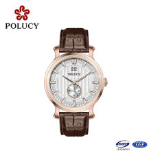 Fashionable Genuine Leather Custom Brand Rose Gold Watch 2016 Vogue Watch