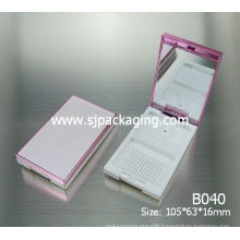 luxury compact powder case bright color cosmetic case 2014 new cosmetic packaging boxes packaging cosmetic