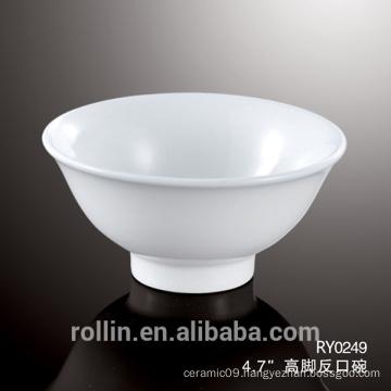 2016 new design white ceramic bowl,White Porcelain Soup Bowl ,Rice Bowl for Hotel&Restaurant