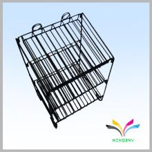 Porte-affiche en acier inoxydable à 3 niveaux pour affichage à cristaux liquides