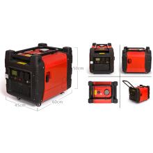 Gerador portátil da gasolina do inversor de 3600 kVA 3.6kw Digitas com acionador de partida chave