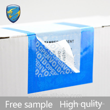 Fabricante experimentado etiqueta abierta de seguridad con código de barras