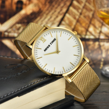 3 atm water resistant 316l stainless steel bands gold men watch