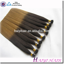 Remy double drawn factory price mini dip dye ombre nano hair extension