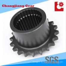 Cadena de transmisión industrial Cadena de acero inoxidable con eje de estría