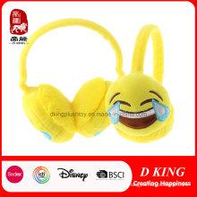 Venda quente Rir Chorar Emoji Earmuff Pelúcia Quente Earmuff