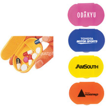 Promotional 3 Grids Logo Printed Pill Box