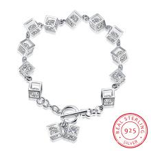 Bracelet en acier inoxydable 925 en forme de style western Tridimensional et Zircon Inside