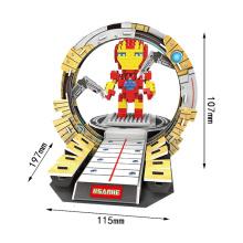 2 em 1 plástico mini-herói blocos de construção de brinquedo (10260005)
