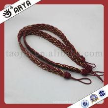 Cuerda decorativa al por mayor para la cortina, la decoración casera y la cenefa de la cortina sujetan y embellecen