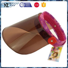 Best selling good quality promotional plastic visor cap from China