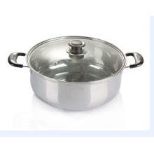 Panelas de aço inoxidável cozinhar panela de sopa