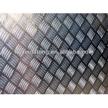 placa quadriculada de alumínio grande de cinco barras