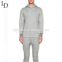 New fashion comfortable grey blank cotton mens pullover hoodie with zipper design