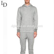 Новая мода удобный серый цвет пустой хлопок мужской пуловер с капюшоном с молния дизайн