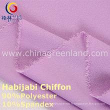 Tissu de Spandex bi-directionnel de mousseline de polyester de 100d pour le textile de mode (GLLML234)