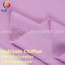 Tela do Spandex em dois sentidos do Chiffon poliéster 100d para a matéria têxtil da forma (GLLML234)