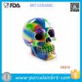 Regalo de Halloween del banco de la caja de dinero del cráneo moldeado grande del esmalte