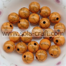6MM Opaque Acrylic Round Ball Smooth Beads For Jewelry Orange Color