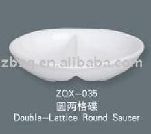 double-lattice round saucer