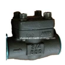 API602 Válvula de retención de rosca NPT de acero al carbono forjado A105