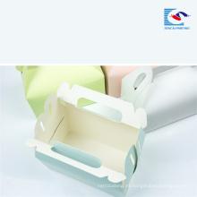 Muestra gratuita de impresión personalizada Caja de papel de torta de calidad alimentaria