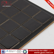 black glazed swimming pool design tile blue ceramic mosaic tile