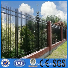 Wrought iron fence panel with black surface