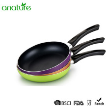 Pressed Black Non Stick Bakelite Handle Cooking Pan