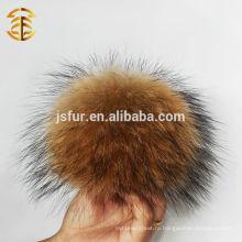 Оптовый енорный меховой пот Poms Raccoon Fur Bobbles для шляп