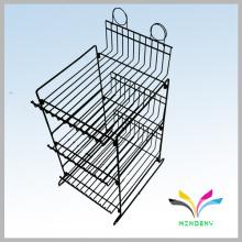 Kundenspezifische kleine 3-stufige Display-Ständer Metalldraht-Flasche kann Rack anzeigen
