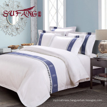 Luxury hotels bedding 60S jacquard long stapled cotton yarn dyed