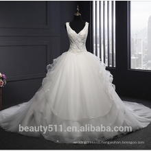Wholesale V-neck sleeveless wedding dress ball gown TS304