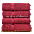 china wholesale 600 gram 100% Cotton 4 Piece Bath Towel, cranberry