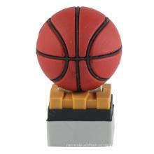 PVC personalizado bola de futebol de forma do basquetebol flash drive (EP013)