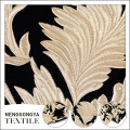 Good selling golden embroidery 100 polyester velvet fabric floral