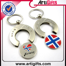 Пользовательских дешевые металла пустая корзина монета брелок с вашим логотипом