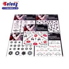 Solong Hot Sale New Design Body Temporary Tattoo Sticker Tattoo Supplies
