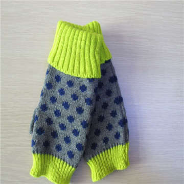 девушка длинные перчатки без пальцев трикотажные рука теплее