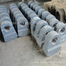 Martillos de fundición de acero de alto manganeso