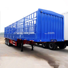 China Fabricação Gooseneck Cerca Cargo Transport Stake Semi Trailer